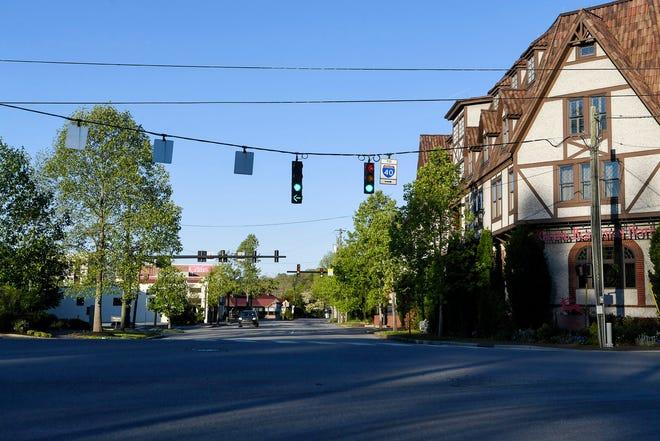 Biltmore Village was devoid of usual visitors amid the coronavirus pandemic April 27, 2020.