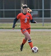 Elsa Mullis is a two-time captain for the St. Philip/Calhoun Christian girls soccer team.
