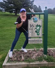 Kelly Spitz, an emergency room nurse who lives in Olivet, shot the first hole-in-one of her golfing life at Cedar Creek Golf Club in Battle Creek this week.
