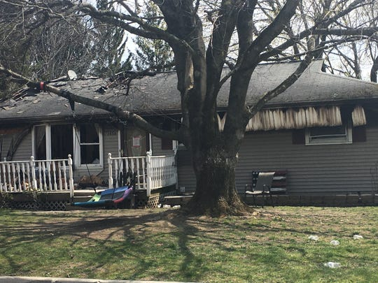 A family escaped a fire that destroyed their home at 1456 Sandra Drive in West Corners late Monday, April 27, 2020.