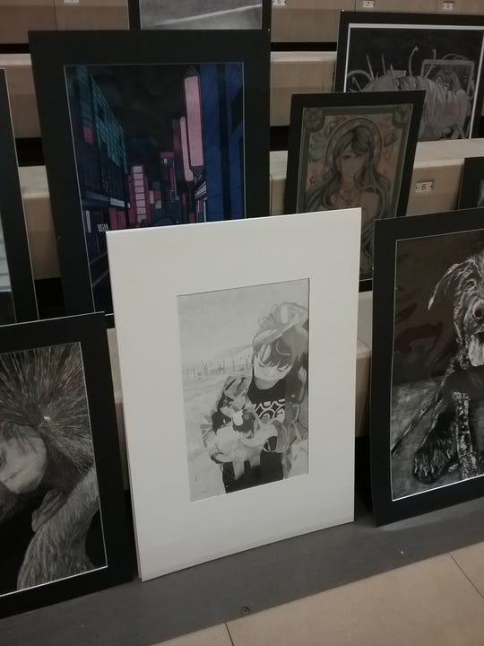 Governor's Art Show submission by Wynford student Kelsey Teets.