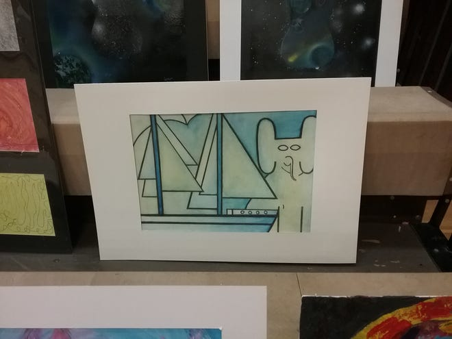 """Trisha Butterfield, a Wynford student, and her painting """"Seas the Day"""" were awarded and recognized as a Governor's Show State Selection.Trisha's piece will be on display in the Capital."""