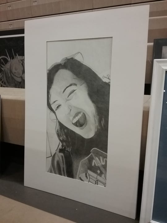Governor's Art Show submission by Wynford student Kayleb Keaton.