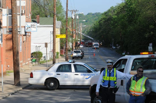 A fire on mile 22 of the 2008 Flying Pig Marathon caused a delay.
