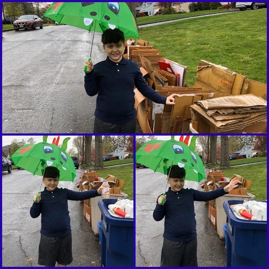 Hehnly School student celebrated Earth Day.