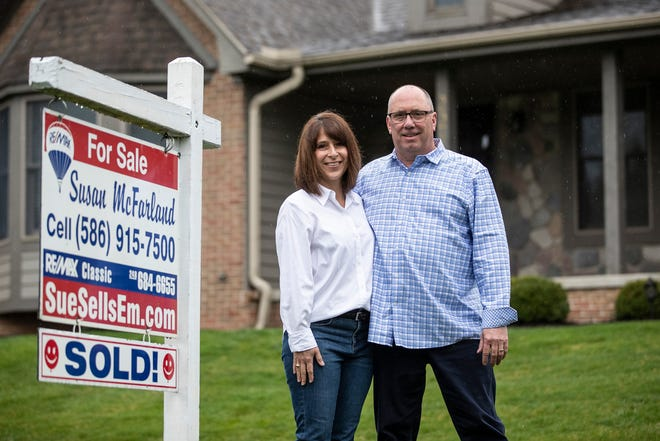 Lori Shotwell and husband Wayne Shotwell have a pending sale of their ranch house in Commerce Township. The buyer only saw the home in photos and through a virtual showing.