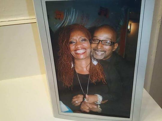 A photograph of Khephera Jesal and her husband Amen-Ra Uhuru. Khephera Jesal's husband of 32 years, lost his battle with cancer and died in late January. Uhuru was a musician, photographer, writer and enjoyed being photographed with his wife at the various activities they did together.