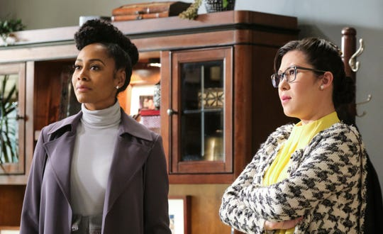 """Simone Missick and Ruthie Ann Miles in a scene from """"All Rise."""""""