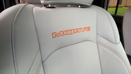 Stitching on front seat of Jeep Gladiator Mojave