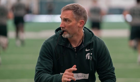 New Michigan State football strength and conditioning coach Jason Novak, who previously worked at Central Michigan.