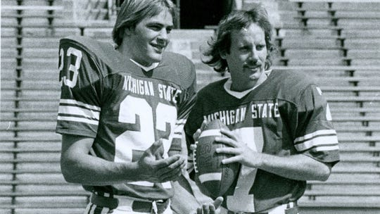 Kirk Gibson decided to give baseball a try while he was playing football at MSU.