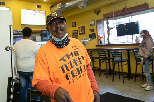 George Lyles runs the Turkey Grill in Detroit's New Center. The restaurant, which had all 17 workers tested for coronavirus, was singled out by Mayor Duggan as business that's doing things right.