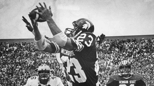 Kirk Gibson was a football star at Michigan State and was inducted into the College Football Hall of Fame in 2017.