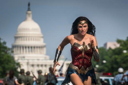 "Gal Gadot as Wonder Woman in a scene from ""Wonder Woman 1984."""