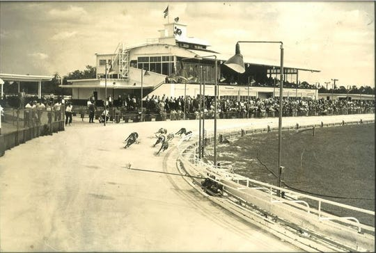 Archive photo from the early years of the Naples-Fort Myers Greyhound Track.