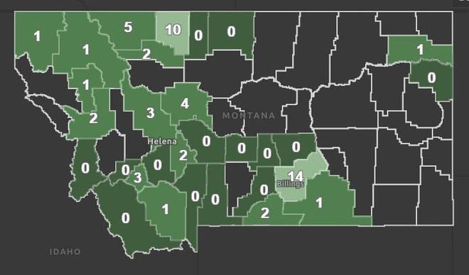 Yellowstone County reported one new coronavirus death on Wednesday, bringing the state's total deaths from the virus to 16.