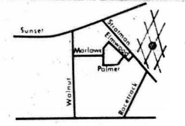 This map, which appeared in The Gleaner of May 9, 1970, shows the location of a proposed incinerator that was to consume the unwanted parts of junk vehicles so the remaining scrap metal could be sold in Louisville. The dot in the cross-hatched section would have been the location. (From Gleaner files)