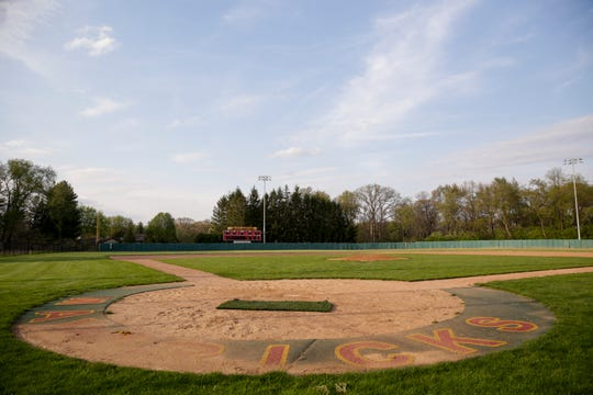 The McCutcheon baseball field sits unused, Tuesday, April 28, 2020 in Lafayette.