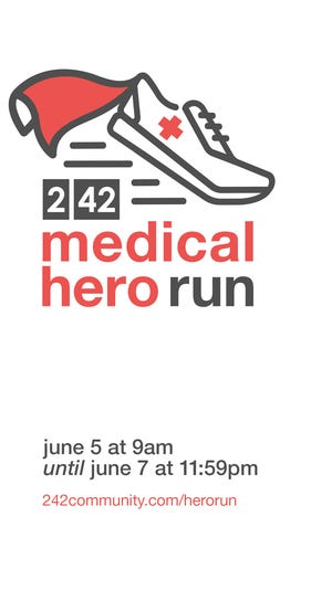 2l42 Community Church is hosting a virtual run in June to support medical workers.