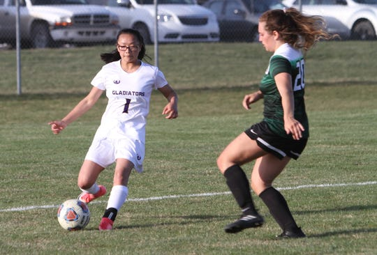 Quinn Soerries (1) would have been a three-year varsity soccer player at Fowlerville had this season been played.
