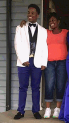 """Nicholas """"Nickadoo"""" Morris, 22, was shot Tuesday, April 20, in Louisville's Park Hill neighborhood before dying later at University of Louisville Hospital. He is pictured here with his mother, Alicia."""