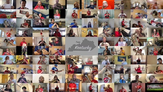 "100 members of university and college marching bands from across Kentucky will perform a virtual ""My Old Kentucky Home"" on May 2.  The project is a collaboration between Natalie Humble of the University of Louisville Cardinal Marching Band and Chad Acklin."