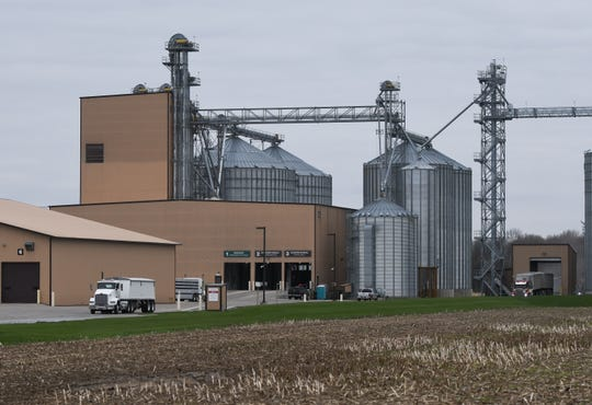 The conventional and organic feed mills at  the Herbruck's Poultry Ranch location on West Portland Road in Odessa Township, Mich., pictured Wednesday, April 29, 2020. [MATTHEW DAE SMITH/USA Today Network]