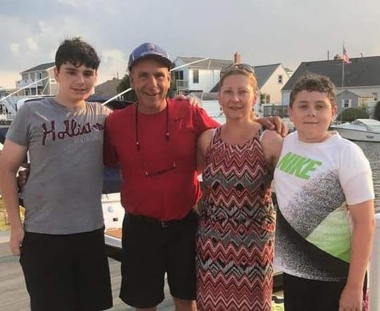 Jimmie LaBarbiera with his wife Ula and two sons, John and Michael