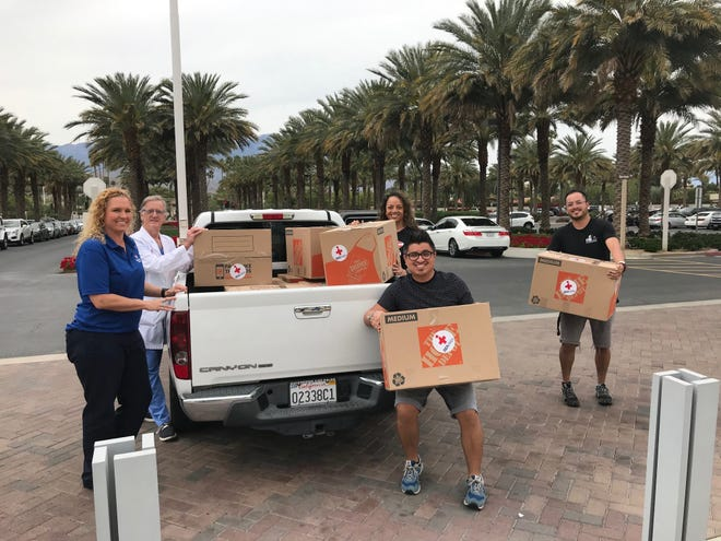 Donations of medical supplies are delivered to the Eisenhower Health Campus from IMAHelps, a local nonprofit humanitarian organization.