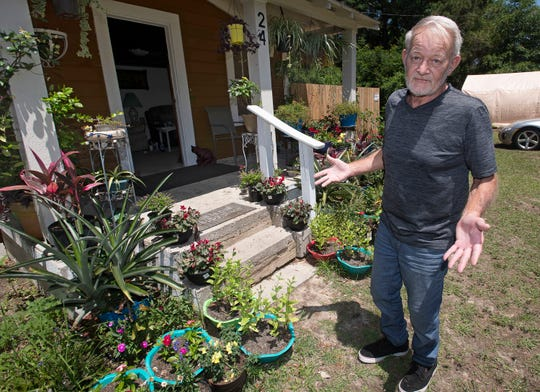 Retired Navy Master Chief, George Heider, has found solace during the COVID-19 shutdown tending to his flower garden. Many of the flowers and plants Heider grows come from doner plants and cuttings given to him by other people.