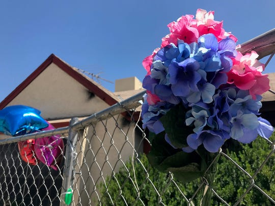 The memorial outside of Geckler's house near 43rd Avenue and Union Hills Drive pictured on Wednesday, April 29, 2020.