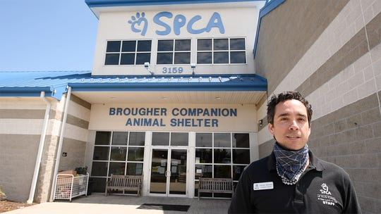 Steven Martinez has been executive director for the York County SPCA for about seven months. He has three adopted dogs, three adopted cats and five chickens.