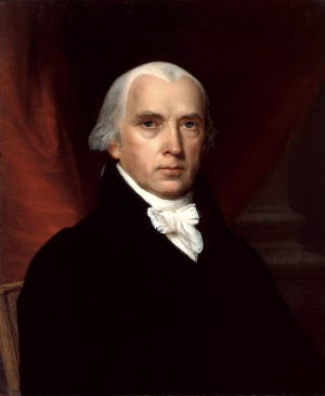 James Madison, the fourth president of the United States, served 1809-1817. He signed many of the land deed documents of Richmond's earliest settlers.