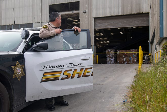 Monterey County sheriff's detectives investigate the scene where the body of an infant was found at the Regional Waste Management District on Tuesday afternoon. These photographs were taken early morning on Wednesday, April 29, 2020.