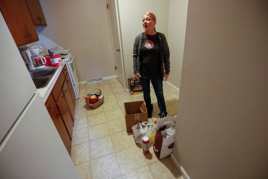 Dawn Carpenter, who was formerly homeless, is using her stimulus check to rent an apartment.