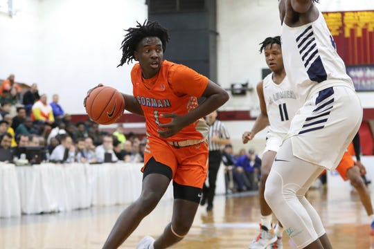 Bishop Gorman's Will McClendon #1 in action against La Lumiere at the Geico High School Basketball Nationals in the Queens borough of New York on April 4, 2019.