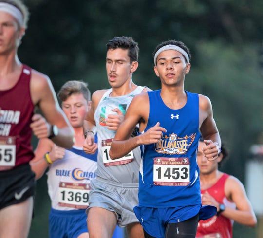 Tallahassee Community College runner Daniel Randolph competes in the FSU Invitational at Apalachee Regional Park.