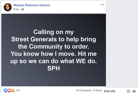 Mount Vernon Mayor Shawyn Patterson Howard's Facebook post on April 29, 2020, following the city second fatal shooting in three days