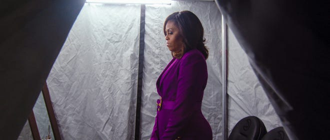 """The documentary """"Becoming"""" centers on Michelle Obama, her upbringing, experiences as first lady and book tour promoting her successful title of the same name."""
