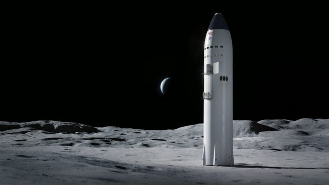 SpaceX's human lander design is a single-stage solution with Starship, a fully reusable launch and landing system designed for travel to the moon, Mars, and beyond. SpaceX's proposal includes in-space propellent transfer demonstration and an uncrewed test landing.