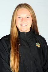 Briana Streib was part of Tiffin's GMAC indoor and outdoor titles as a freshman as a discus thrower.
