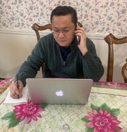 Burlington School District multicultural liaison Son Do, who works primarily with Vietnamese students and families in the area. Amid the COVID-19 pandemic, he has kept up with his clients through telephone calls and virtual class sessions.