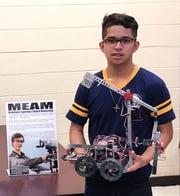 Julio Cesar Rivas-Ortiz was named SCVTHS student of the month for April.