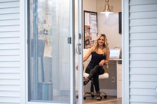 Gogo Bethke, the owner of Gogo's Real Estate in her home office in Pinckney on April 29, 2020.