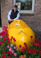 Dave Lorenz, vice president of Travel Michigan, poses at the 2016 Holland Tulip Festival. That event, which would have taken place this week, is among hundreds canceled due to the pandemic.