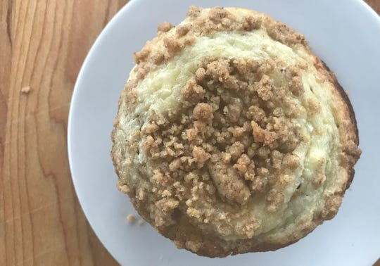 The streusel topping proved tastier than the cream cheese mixture on the Pumpkin Cheesecake Muffins made from a recipe on the Pillsbury Quick Bread box mix.