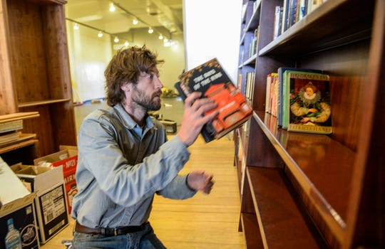 Andrew Guschausky, owner of Cassiopeia Books, is in the process of moving into his new location at 606 Central Avenue.