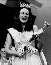The new Miss America of 1971, Phyllis George of Denton, Texas, is shown after she was crowned in Atlantic City, N.J., Sept. 12, 1970.