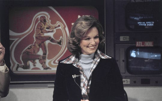 Phyllis George (CBS sportscaster) on Nov. 28, 1976. (AP Photo/Suzanne Vlamis)