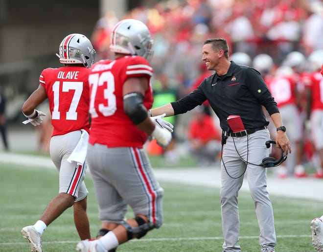Ohio State receivers coach Brian Hartline is a rising star in the coaching ranks and the reigning 247Sports College Recruiter of the Year for his alma mater.